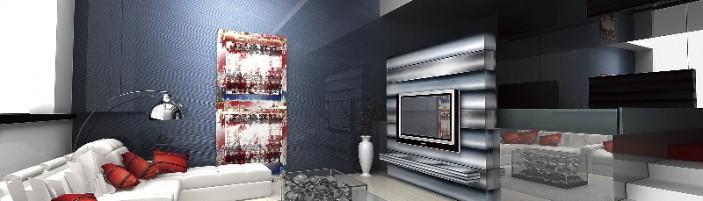 3D модель интерьера дома