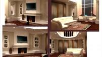 Дизайн гостинной комнаты во вторым светом.