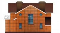Фасад 3 мансардного дома с подвалом