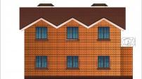 проект мансардного дома с подвалом