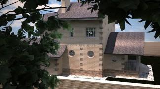 Стройка по проекту дома с бассейном. 2012 г.