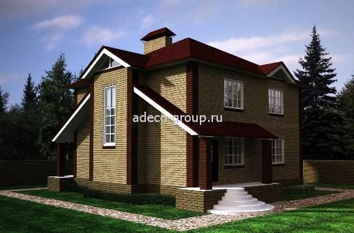 Проект. Индивидуальный дом. 3D.