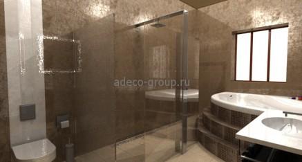 3Д модель интерьера. Моделирование ванной