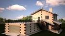 Проект дома с гаражом на 4 машины
