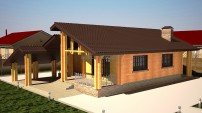 Проект дома из бруса.