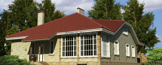 Одноэтажный дом с холодной мансардой