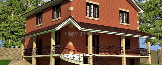 Дом на учаске с уклоном