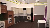 Одна из шести кухонь 3D