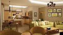 Кухня-гостиная с плетеной мебелью