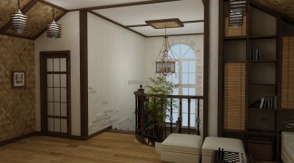Интерьер двухэтажного коттеджа