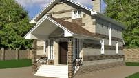 Вариант отделки фасадов дома
