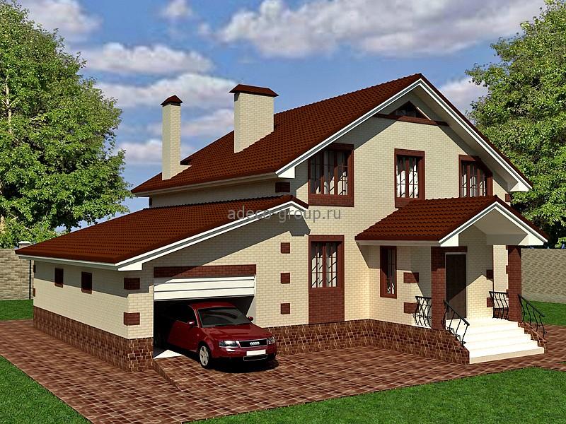 Частный дом с гаражом фото