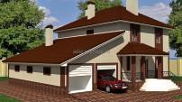 Дом с гаражом на две машины