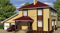 Цветовое решение фасада дома: солома с терракотом