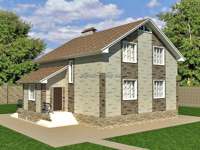 Мансардный дом дизайн фото