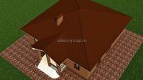 Кровля дома - вальма четырехскатная