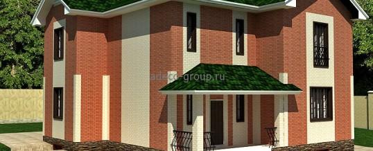 Дом с зеленой кровлей в п. Вишневка