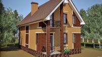 Лестничное окно и балкон