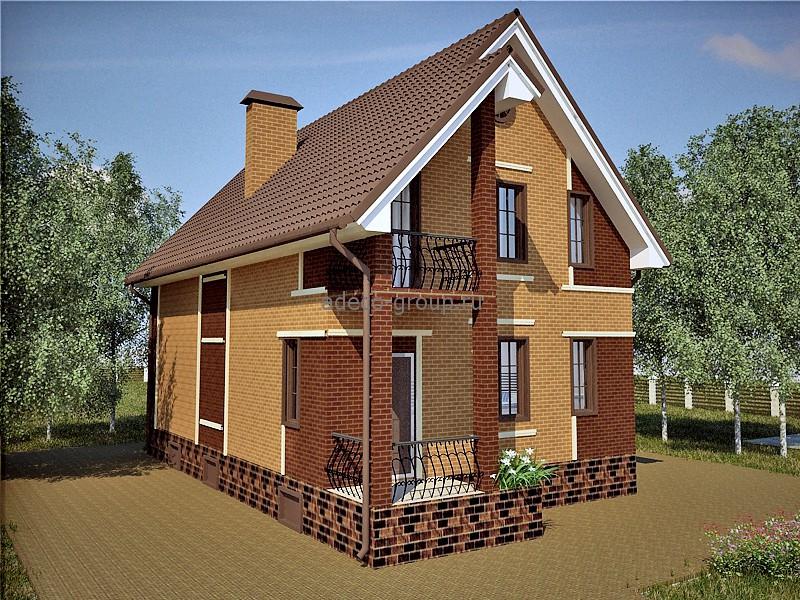Проект узкого мансардного дома в д. дятлово, рт адеко.