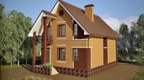 Мансардный узкий дом