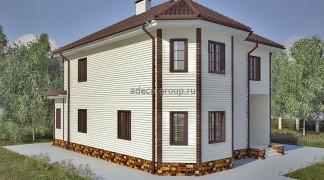 Проект дома каркасного типа, г. Казань