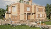 Вид на дом в стиле Hi-tech