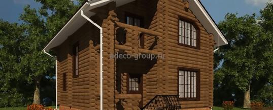 """Мансардный деревянный дом, д. """"Зимняя Горка"""""""
