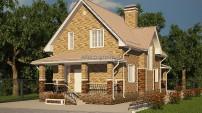 Мансардный дом с террасой