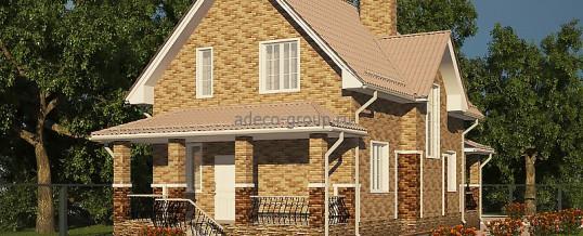 Мансардный дом с двумя террасами, г. Казань
