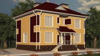 Двухэтажный дом с баней