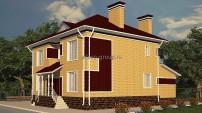 Дом в желто-коричневом тоне