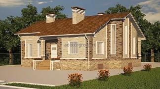 """Одноэтажный дом с комнатой-шале, пос. """"1 Мая"""", РТ"""